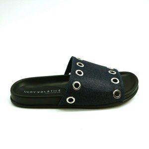 Very Volatile Estaba Slide Sandal Black 8 New